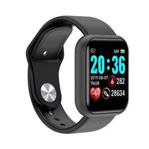 Y68 montres intelligentes Bande Fitness Bracelet Bracelet Bracelet Activité Tracker Crèduction cardiaque Surveiller la pression artérielle Bluetooth Smartband Smartwatch pour Los Android