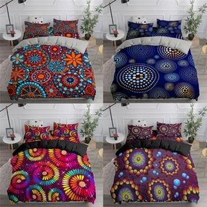 Bohemian Duvet Cover Mandala Flower Bedding Set For Adults Kids Bed Clothes 2 3pcs Queen King Twin Size Linens Dropship Sets