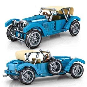 SEMBO New Creative Classic Car Building Blocks Model Moc Bricks Children Expert Retro Toys Boys Kids Birthday Gifts