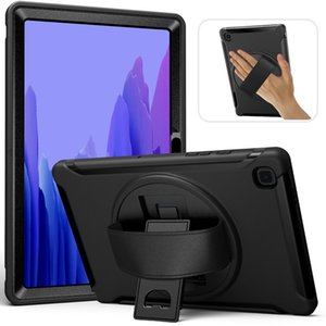 Heavy Duty Rubber Hybrid High Impact Drop Rugged Shockproof Full Body Protective Cases with Hand Strap Stand for Samsung Galaxy Tab A7 Case 10.4 Inch (SM-T500   T505   T507)