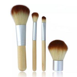 4шт набор комплект Другое домохозяйство Sundls деревянные кисти для макияжа красивый профессиональный бамбук сложная макияж кисти инструменты с корпусом на молнии кнопку сумка ZWL285
