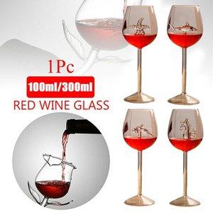 Wine Glasses Rose Flower Shape Glass Dolphins Red Goblet Party Mug Cocktail S Set Strawberry