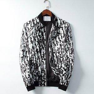 2021 Mens Designer Jacket Striped Slim Print Pocket Wind Casual Baseball Jackets Zipper Hoodies Coats