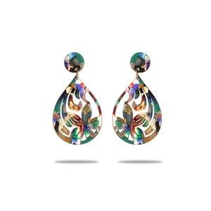 Dangle Earrings of Plumeria Bulk Guam Stud Samoan Polynesian Hawaiian Jewelry Chandelier Wholesale Acrylic Acetate Earring