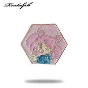 Pins, Brooches Round, Sweet, Cute, Shiny, Miniature, Pretty Girl Soft Enamel Pin