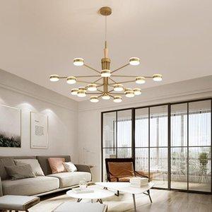 Chandeliers Nordic Lighting Brass Cottage Living Decor Chandelier Ceiling Lamparas De Techo Colgante Moderna