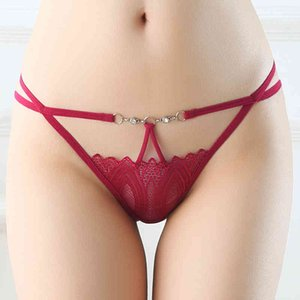 women underwear panties sexy g-strings wholesale designer bikini thongs fashion style spaghetti hollow lace string panty intimates 7colors
