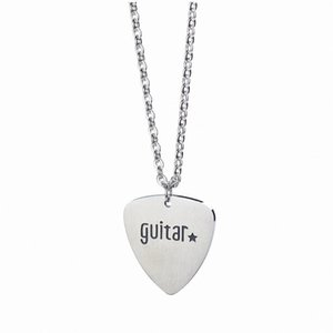 Guitar Heart Pendant Necklace Stainless Steel Rock Hip Hop Clavicle Fashion Female Chocker Jewelry Luxury Charm Love Chains