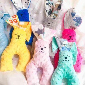 Soft Skin-friendly Baby Appease Pillow Rabbit Shape Plush Doll Home Decor Cushion Infant BabE Accompany Sleep Toys Gift