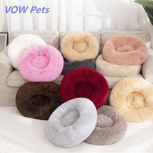 Cama de perro Larga Pollo de espeluznante Cesta de gato Calmando Hondenmand Pet Kennel Casa Suave Cojín Fluffy Cojín para dormir para perros grandes Pensinas de perros