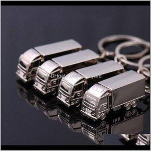 Favor Event Festive Party Supplies Home & Garden3D Stereo Big Truck Fashion Keychains Creative Gifts Key Buckle Keyring Chain Pendant Waist H