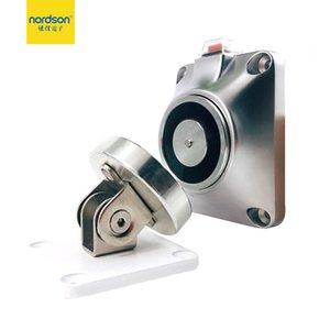 Nordson Orijinal 12/24 V Manyetik Duvar Montaj Kapı Durdurucu 50 KG / 110LBS Kuvvet Gücü Tutan Elektromanyetik Tutucu Parmak İzi Erişim C