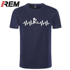 Papa blague soudeuse heartbeat papa pères fête fête drôle t-shirt hommes t-shirt Nouvelle arrivée Style d'été