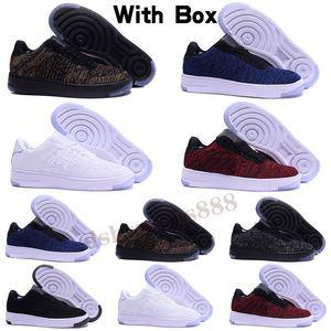 Nike Air Force 1 Flyknit 2.0 남성 여성 스포츠 신발 1 유틸리티 클래식 블랙 화이트 레드 원 스케이트 보드 높은 낮은 컷 밀 트레이너 스니커즈 크기 36-45