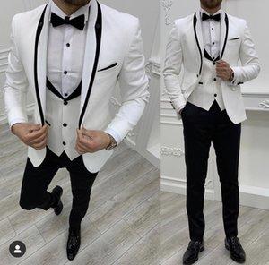 Customize tuxedo One Button Handsome Shawl Lapel Groom Tuxedos Men Suits Wedding Prom Dinner Man Blazer(Jacket+Pants+Tie+Vest) W933