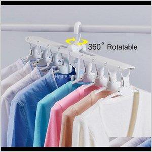 Multifunctional Wardrobe Magic Hanger Foldable Clothes Storage Hangers Household Multilayer 360 Degree Rotation Drying Racks Dh1029 Ov Ffeqw
