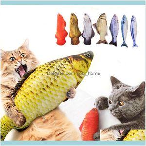 Pet Supplies Home & Gardenpet Soft Plush 3D Shape Cat Bite Resistant Interactive Gift Catnip Toys Stuffed Pillow Doll Simulation Fish Playin
