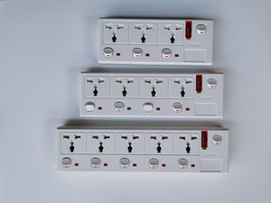 2 -6way with Individual Switches Extension UK multi universal socket International general home office