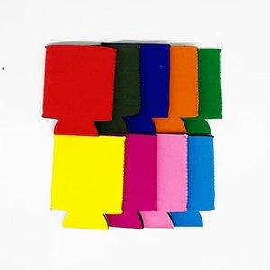 Katı Renk Neopren Katlanabilir Stubby Sahipleri Bira Soğutucu Çanta Şarap Gıda Kutular Için Kapak Mutfak Aletleri BWE7447