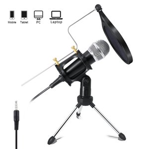 Recording Condenser Microphone Mobile Phone Mic Microfone Kit For Computer Pc Karaoke Mic Holder Android 3.5mm plug