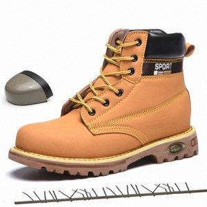 Bottes chaussures de travail pour hommes baskets chauds antidérapant étanche acier casquette chaussures de sécurité indestructible L6CG #