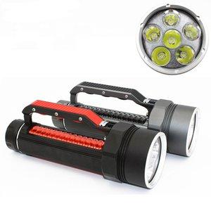 Diving Torch Light 6 * XML-L2 7200LM LED Diver Flashlight IPX8 Waterproof Lamp Scuba Submersible Underwater 100M 32650 Batteries