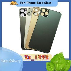 Высочайшие качественные корпуса для iPhone 8 x 11 12 Большой отверстие Батарея задняя стеклянная задняя крышка Корпус Заменить ЖК-ремонт Запчасти