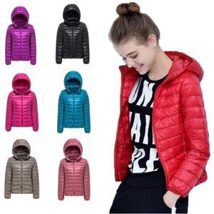 2021 New Woman Spring Parka Jacket Coat Warm Ultra Light Duck Down Padded Jacket Female Overcoat Slim Solid Coat Womens Parkas