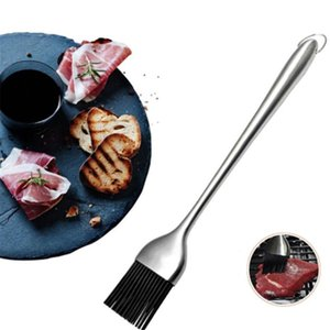Tools & Accessories Silicone BBQ Brush Kitchen Oil Long Handle Barbecue Grill Cook Basting Pastry Baking Outdoor