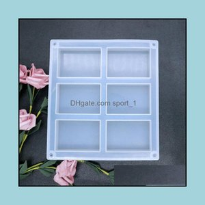 Jewelry Tools & Equipment Jewelry6 Rec Sile Molds Resin Soap Pan Biscuit Chocolate Mold 55X80Mm Each Cavity Cake Decorating Ice Cube Tray Dr