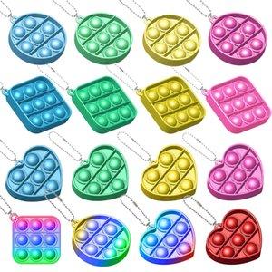Новый Fidge игрушечный кулон с креплением милый маленький антистресс кулон простой димоплесс игрушка брелок для детей взрослых формы сердца силикона