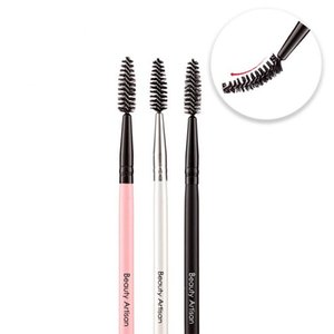 Makeup Brushes 1pc Long Rod Spiral Eyelash Brush Portable 3 Colors Bristle Curling Eyebrow Bendable Comb