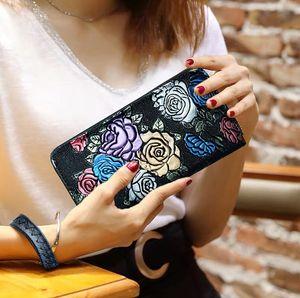 Женский кошелек женский кошелек кожа длинные монеты тиснение держатель карты деньги муфты браслет многофункциональный