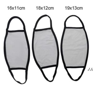 Blanks Sublimation Face Mask Adults Kids Dust Prevention For DIY Transfer Print Masks AHC7368
