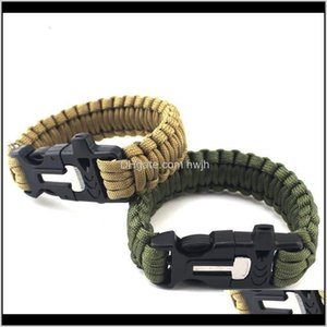 Gadgets And Camping Hiking Sports & Outdoorsflint Whistle Safety Products Outdoor Multi Function Survival Bracelet Drop Delivery 2021 4Otyq
