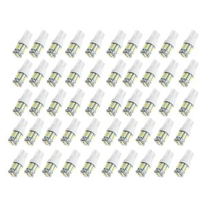 50pcs Lot T10 7020 10SMD LED Car Bulbs For Clearance Lamp License Plate Light Wedge Replacement Reverse Instrument 12V