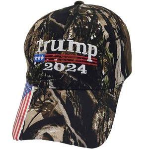 Cumhurbaşkanı Donald Trump 2024 Şapka Kamuflaj Beyzbol Topu Kapakları Kadın Erkek Tasarımcılar Snapback ABD Bayrağı Maga Anti Biden Yaz Güneş Visor