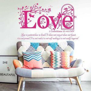 1 DHL Corinthians 13 v 4-8 NIV Christian Bible Verse Sticker Bedroom Living Room Religion Family Love Quote Wall Decal Vinyl KMU6