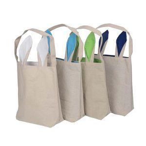 هدية التفاف 30 قطعة / الوحدة حقائب عيد الفصح سلال الجوت واحد الكتف الخيش الأذن حمل للأطفال هدايا الأطفال