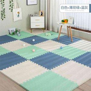 30x30x1cm Baby Play Mats Plain Color Puzzle EVA Foam Kids Jigsaw For Bedroom Protective Floor Tiles Games 210915
