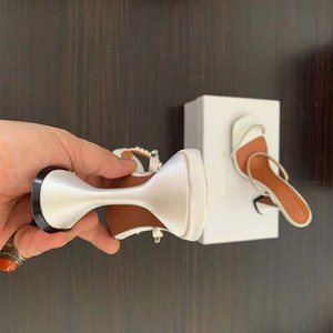 Top Designer Crystal Set Auger Sandálias Mulheres Sandália Alto Saltos de Borracha Slipper Slipper Sapatos de Salto Verão Gravado Flip Flops com caixa