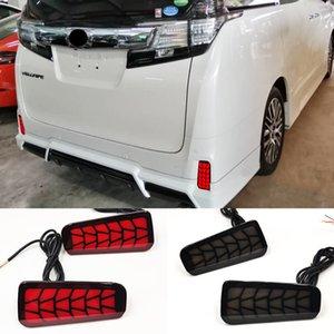 2PCS For Toyota Vellfire 2016 2017 2018 ALPHARD LED Rear Fog Lamp Bumper Light Auto Brake Light Turn Signal Reflector