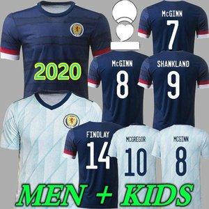 남성 + 키즈 2021 스코틀랜드 축구 유니폼 20 21 Camisetas de Futbol 홈 멀리 McGregor McGinn 암스트롱 팀 저지 축구 셔츠
