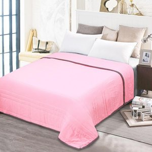 Comforters & Sets Summer Double Cover Air Conditioning Cotton Nap Quilt Thin Office Sofa Patchwork Comfortable Bed Home Decorati