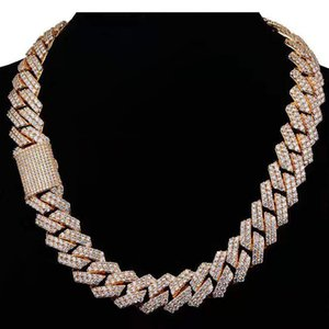 2021 High Quality 14MM Iced out Hip hop Cuban Miami Chain Chains Necklace Necklaces
