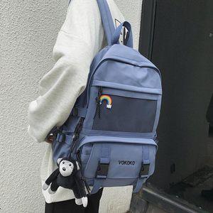 Backpack EnoPella Fashion Waterproof Nylon Women For Girls Travel High Capacity Student BookBag Men Black Laptop Bag