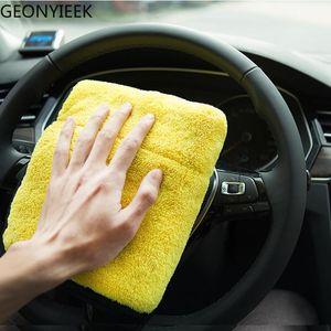 30X30cm Car Wash Microfiber Towel Polishing Care Cleaning Towels Drying Washing Thick Plush Fiber Cloth