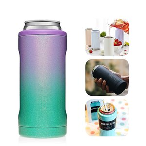 Creative 12Oz Vacuum Mug Double Stainless Steel Beer Bottle Cooler Outdoor Travel Thermos Insulated Vacuum Beer Can Cooler H0831