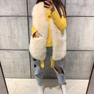 real natural gilet women vest fur jacket sleeveless