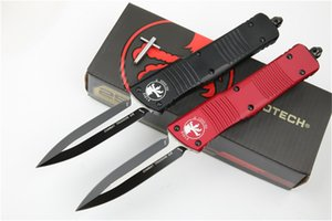 Microtech outdoor camping knife D2 blade Aviation aluminum alloy 6061 handle double action tactical hunting tool